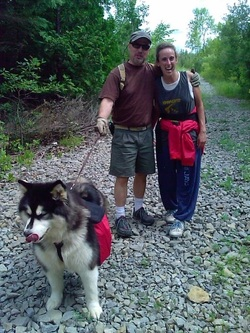 CKC Purebred Alaskan Malamute Yukonjaks Seal of Distinction backpacking